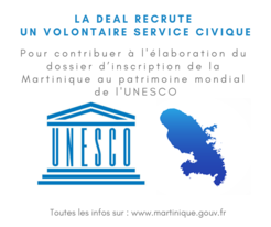 Recrutement d'un VSC : contribuer à l'inscription de la Martinique au patrimoine mondial de l'UNESCO